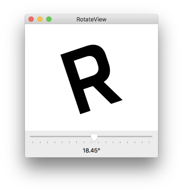 RotateView window