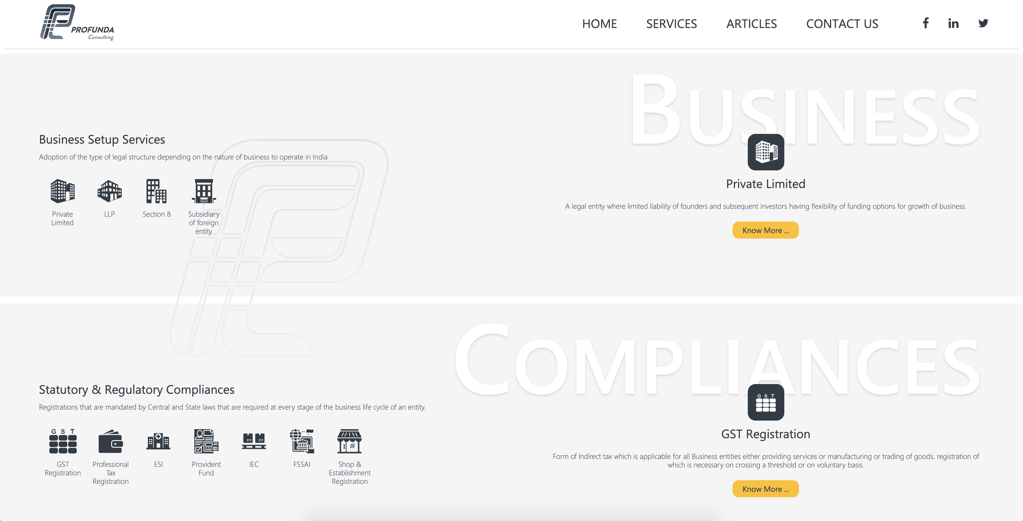 Profunda Website Screenshot