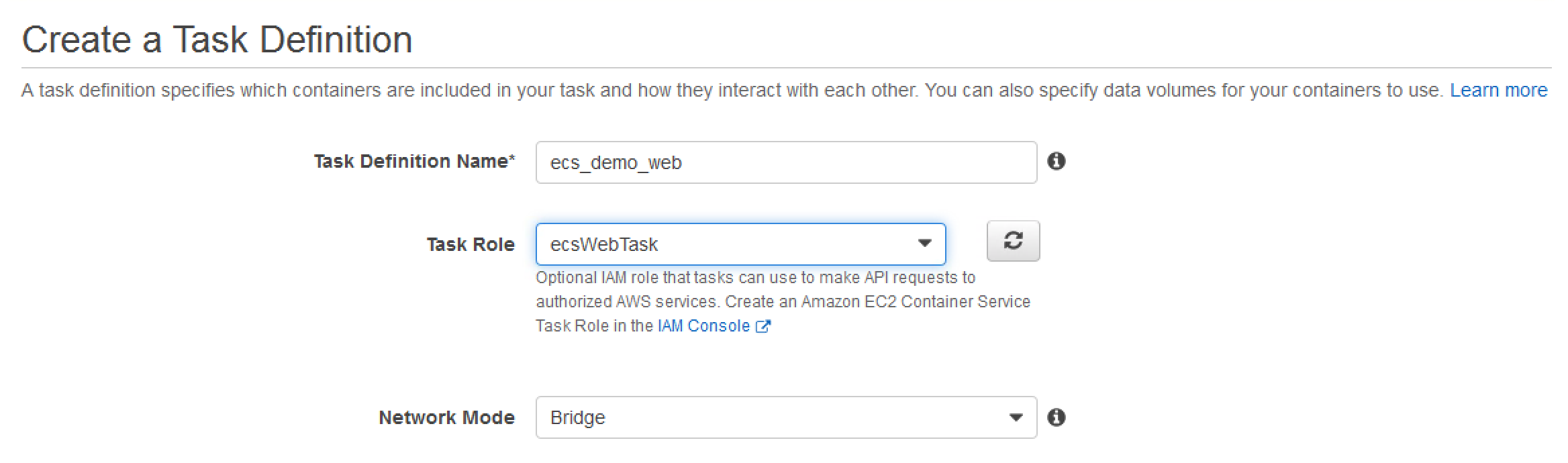 create task def