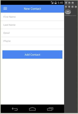 Application contact detail page