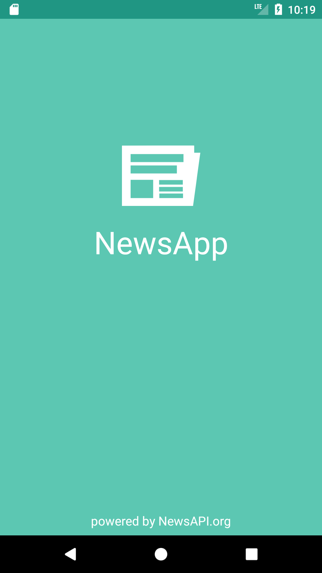 NewsApp Main Page