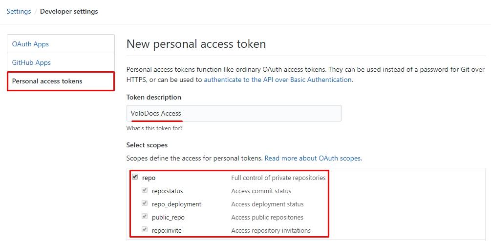 Retrieve GitHub Access Token for Private Repo