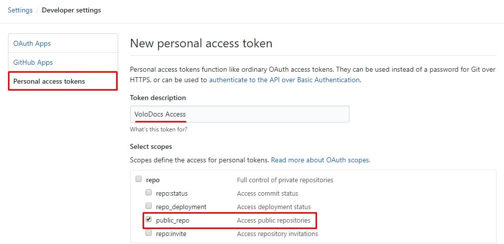 Retrieve GitHub Access Token for Public Repo