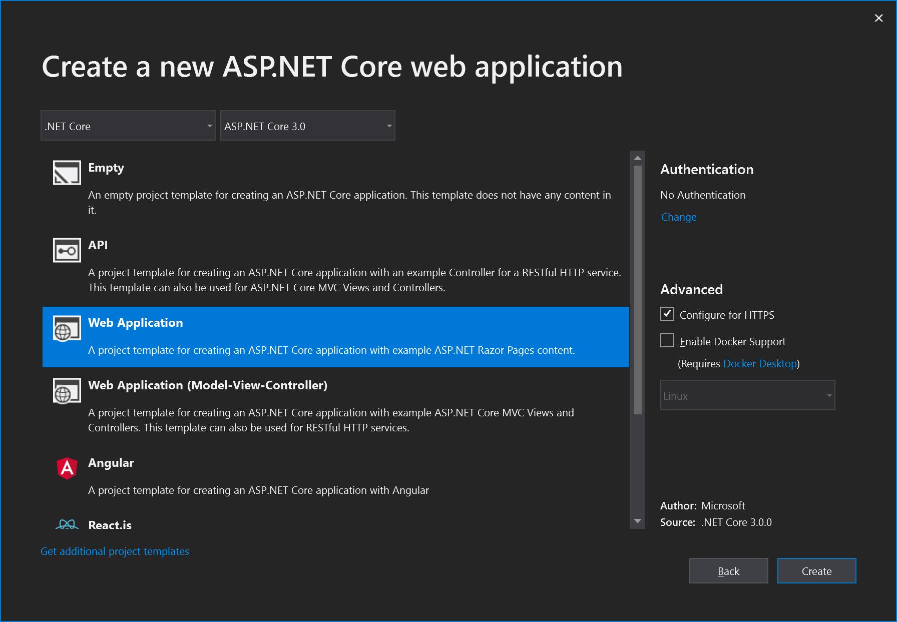 create-aspnet-core-application