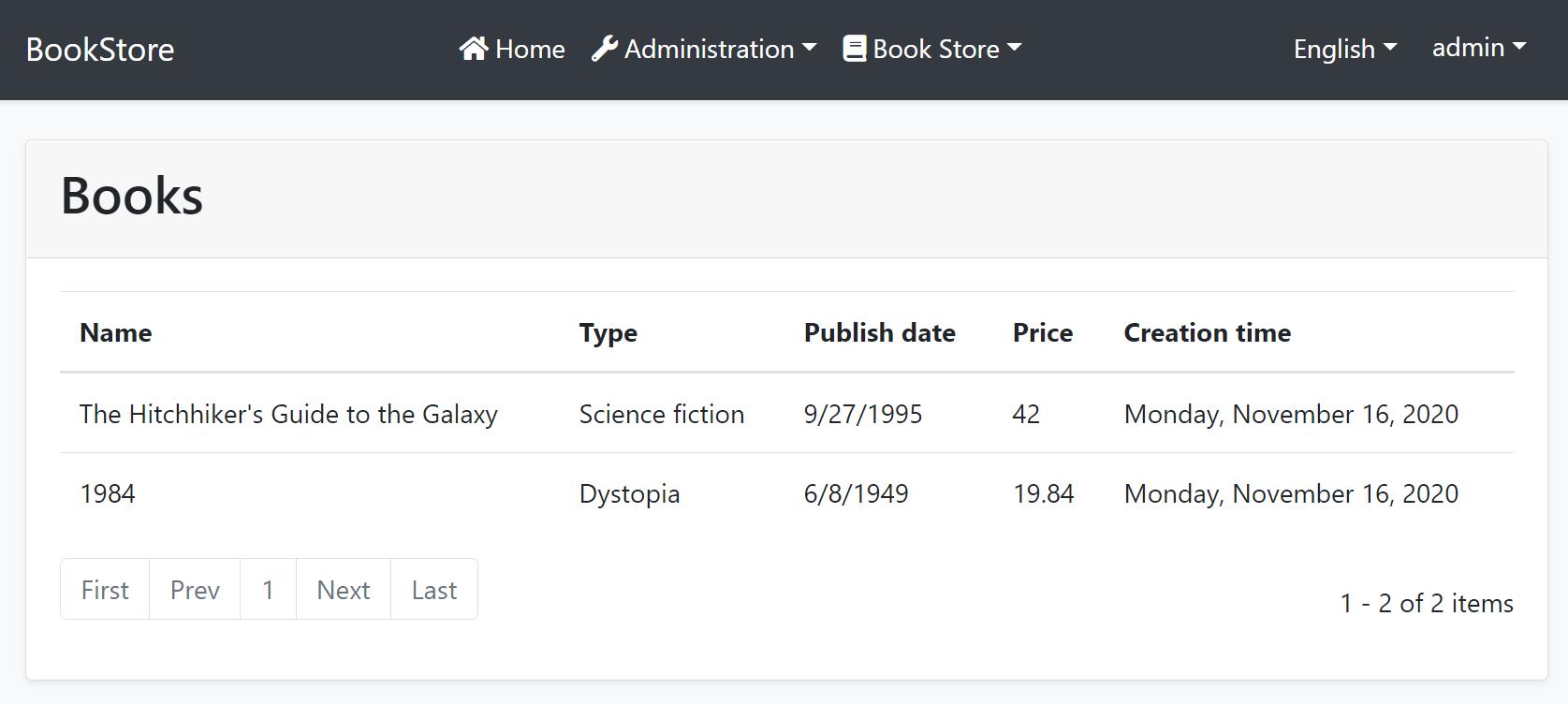 blazor-bookstore-book-list