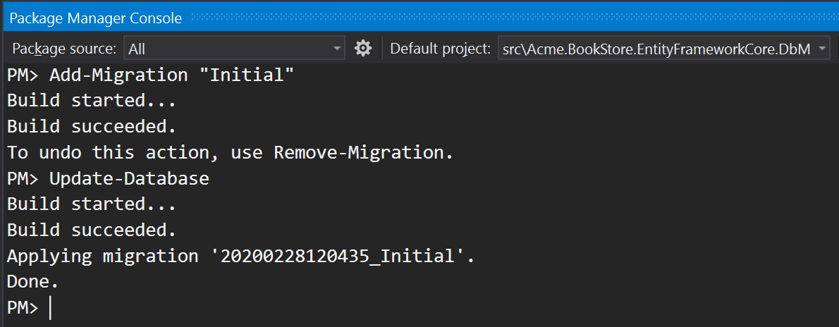 pmc-add-migration-initial-update-database