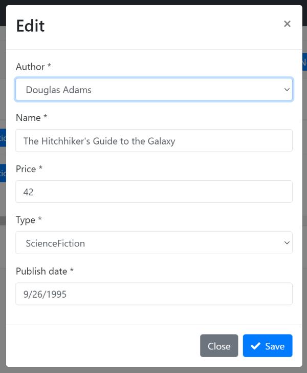 bookstore-angular-author-selection