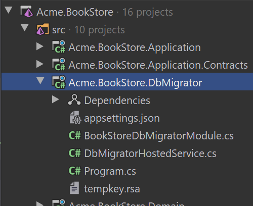 bookstore-dbmigrator-on-solution