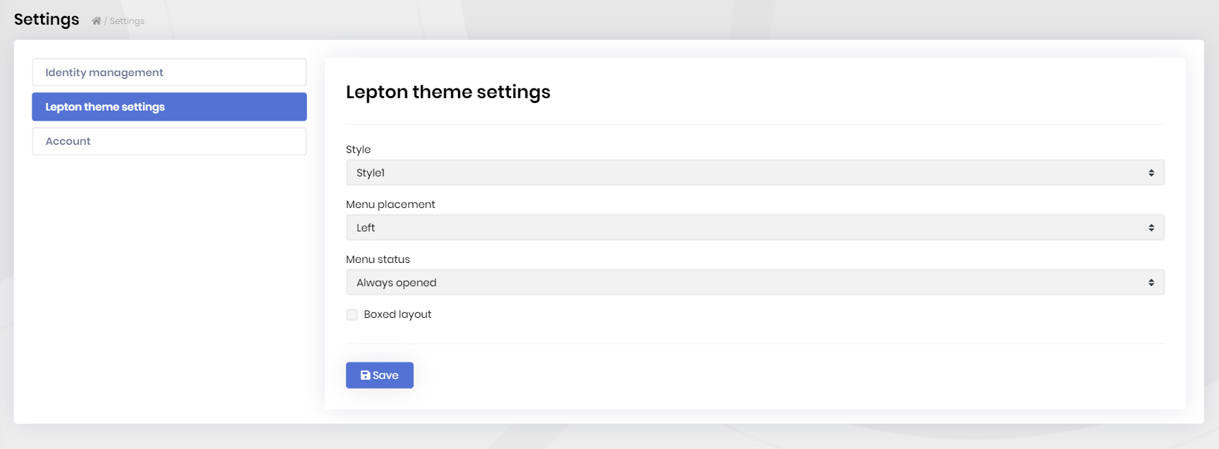 lepton-theme-module-settings-page
