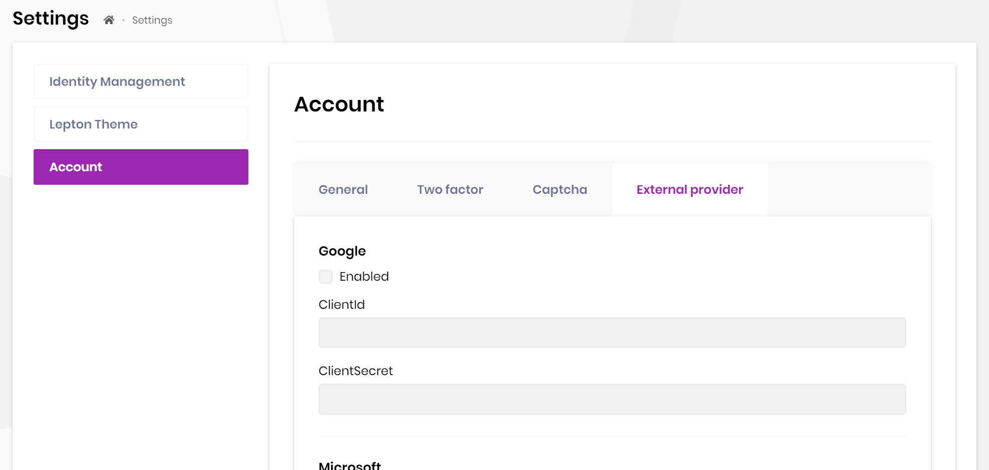 account-pro-external-login-settings