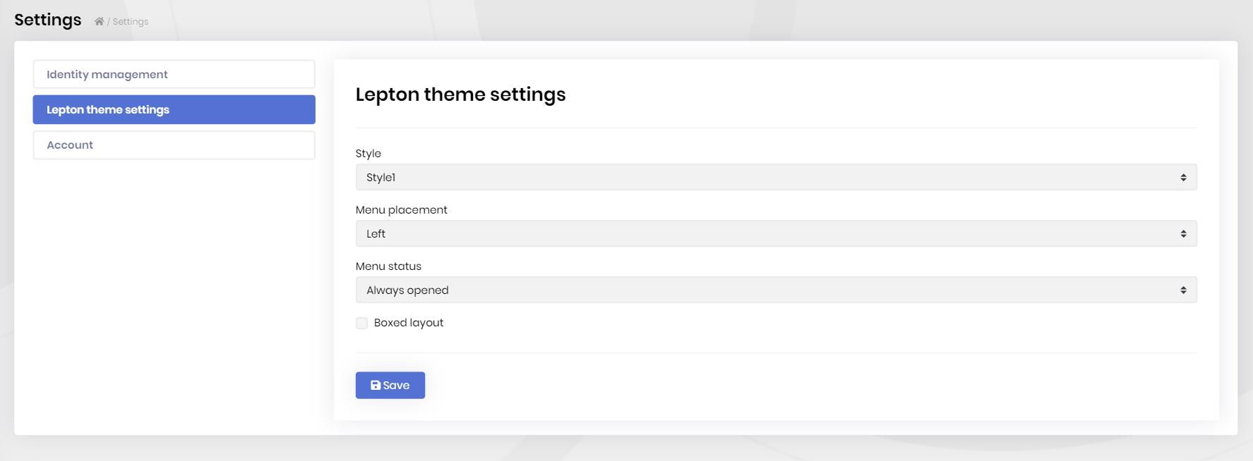 lepton-theme-module-settings-page