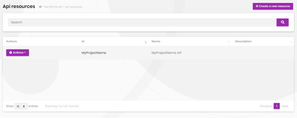 identity-server-api-resources-page