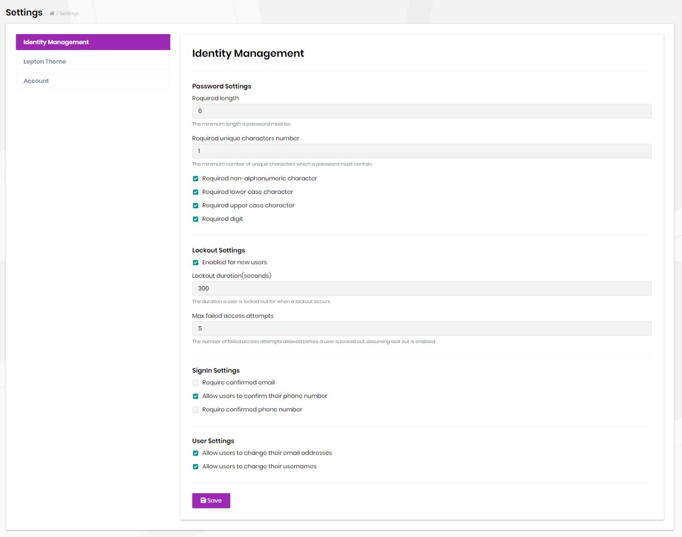 identity-settings-ui