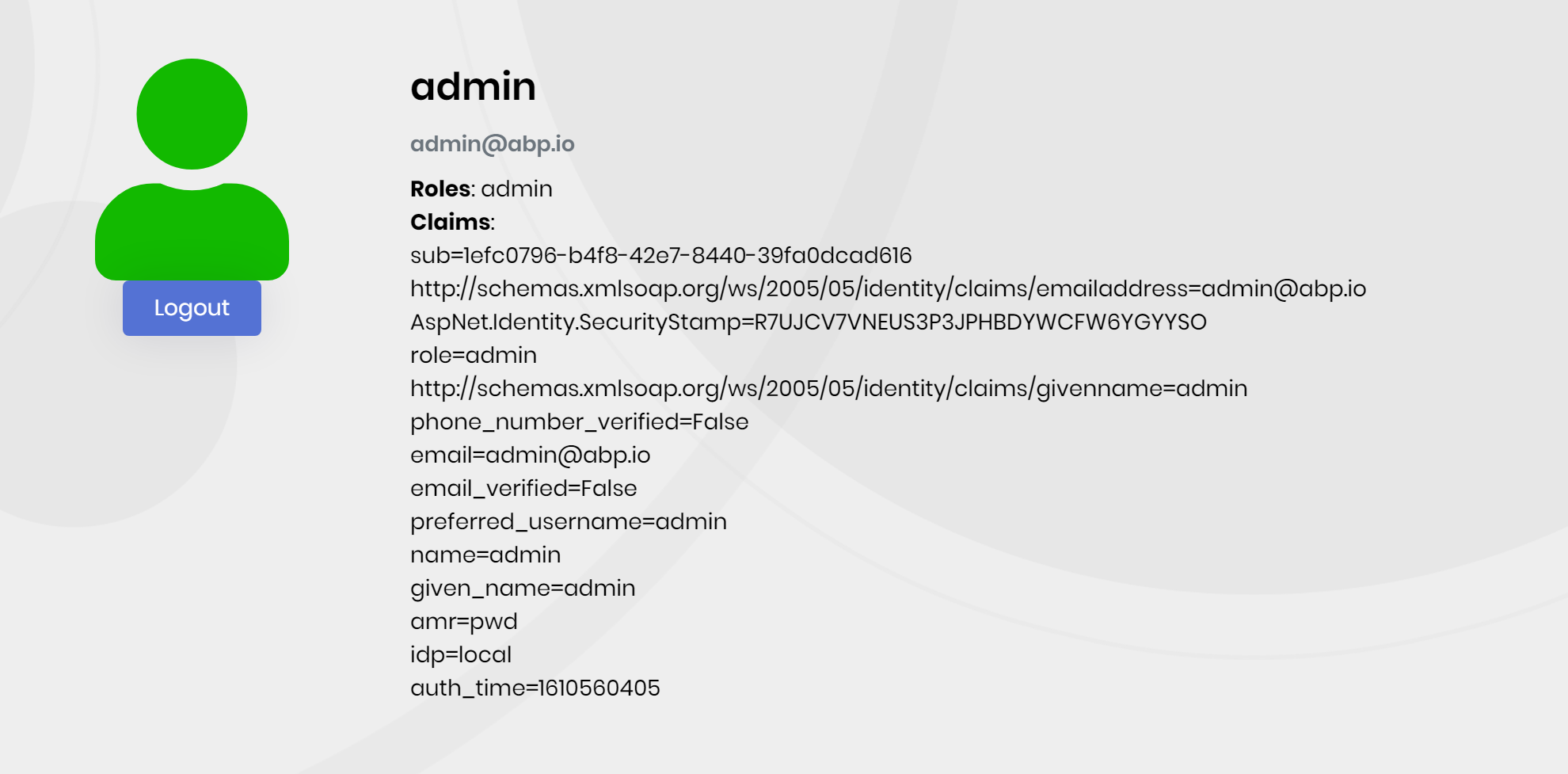 microservice-template-auth-server-after-login-page