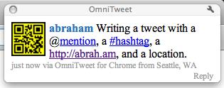 Tweet notification