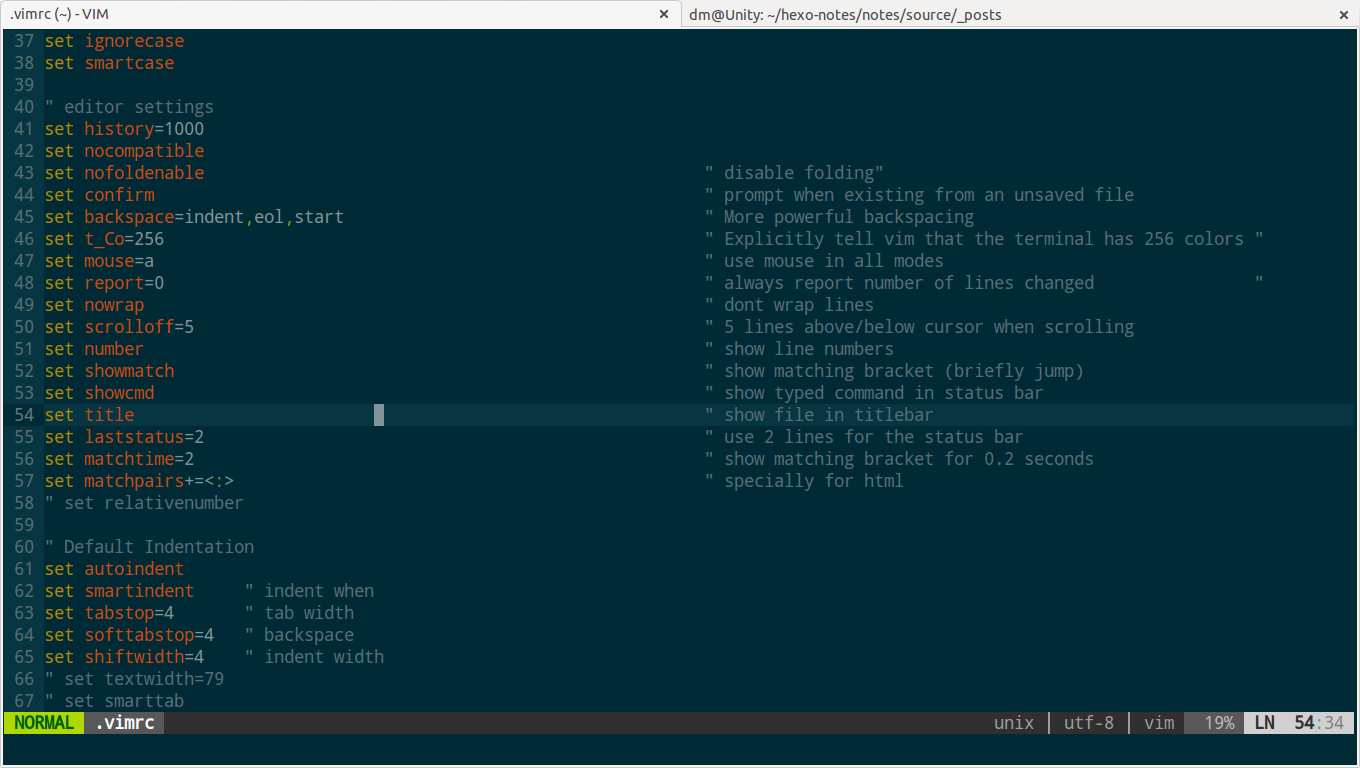 vim with solarized