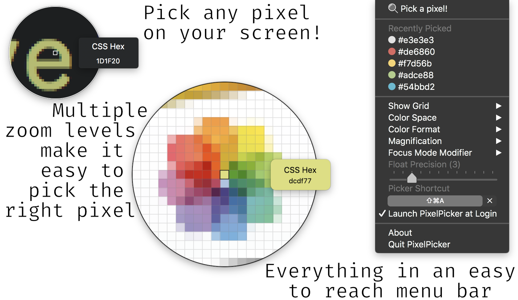 demo of pixel-picker