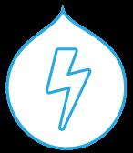 Lightning logo of a bolt of lightning