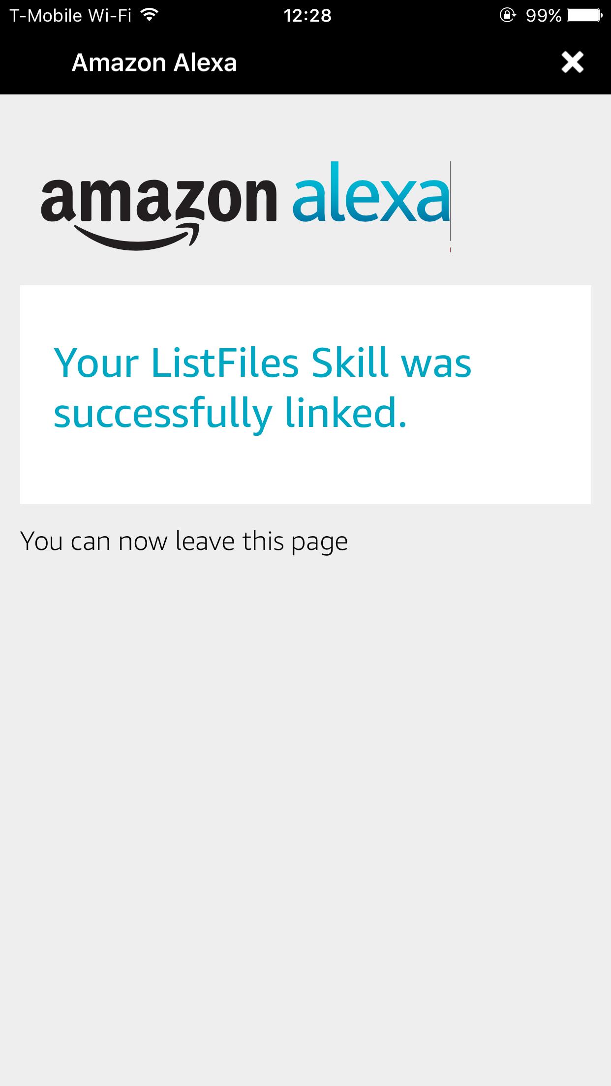 Successfully Linked Skill alexa-open-doc