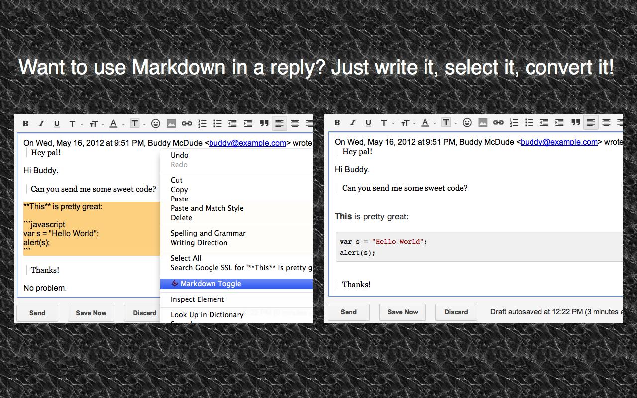 screenshot of selection conversion