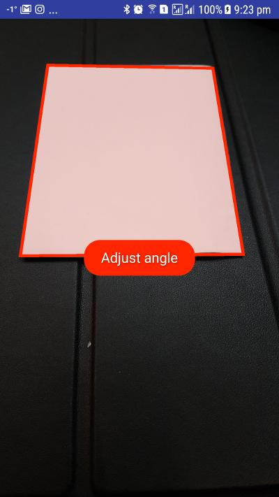 Adjust angle