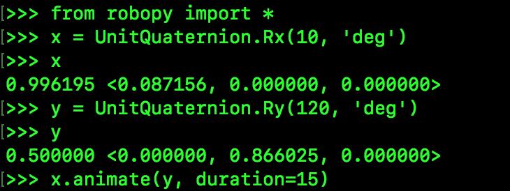 UnitQuaternion example code