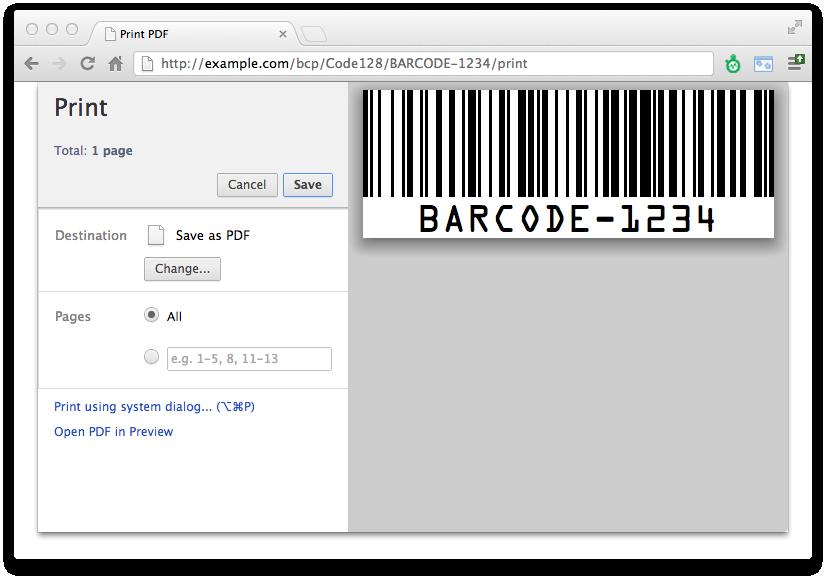 Barcode Printer for Django - Automatic Printing