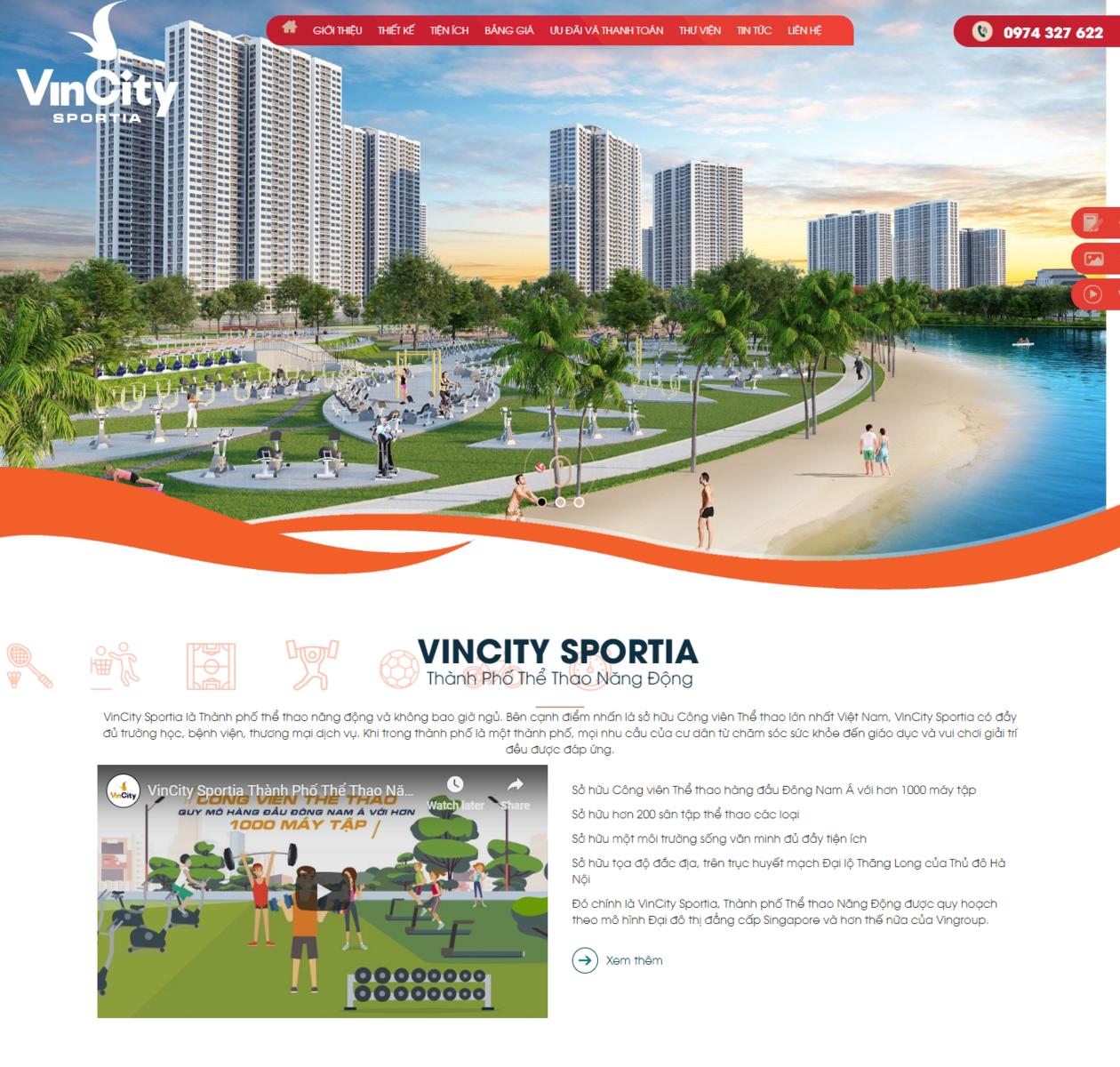 Mẫu web bất động sản VinCity thumbnail