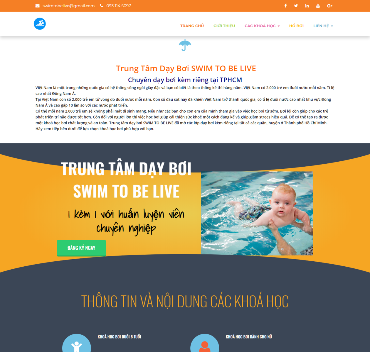Mẫu web dạy bơi thumbnail