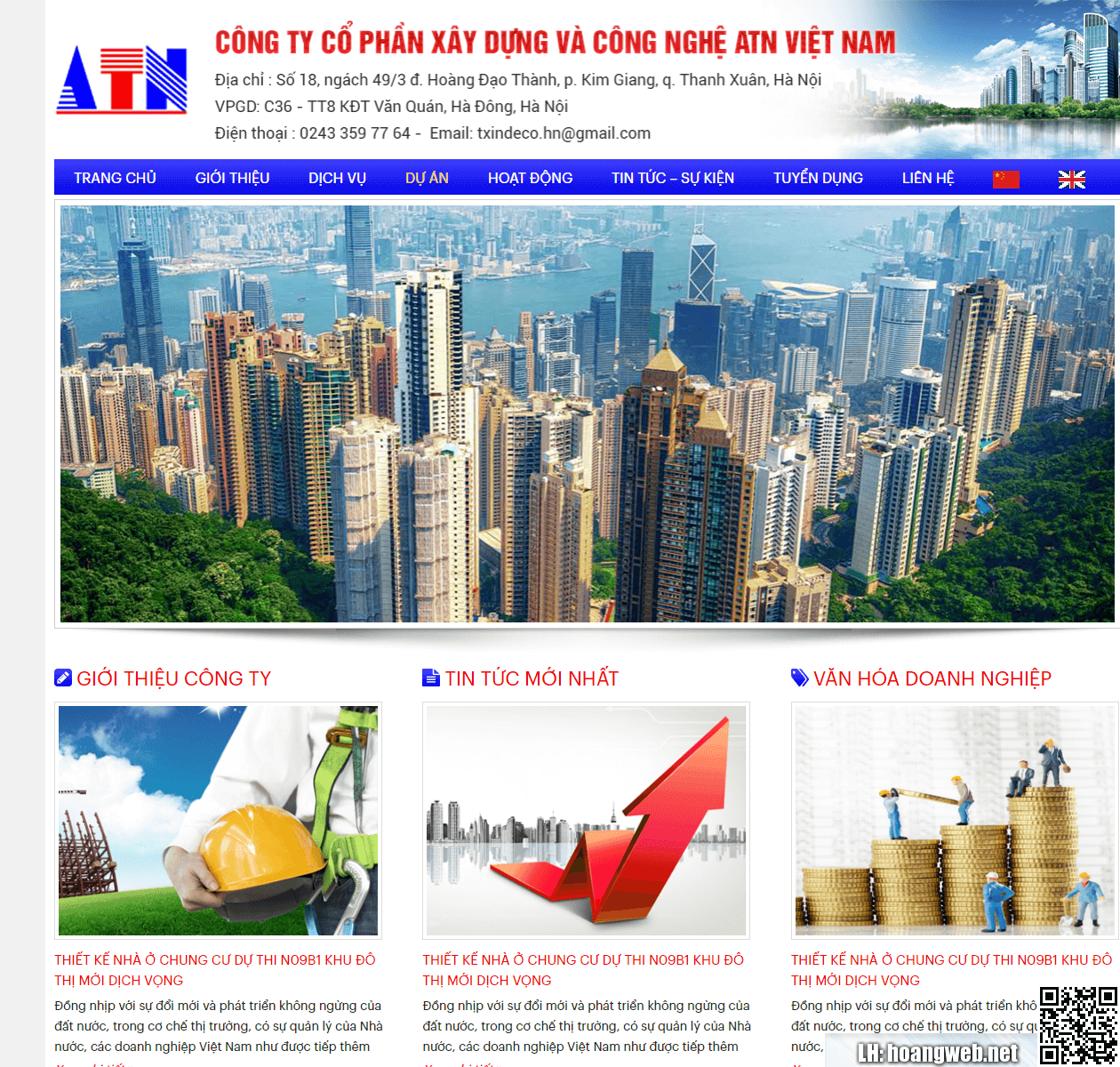 Mẫu web giới thiệu công ty 3 thumbnail