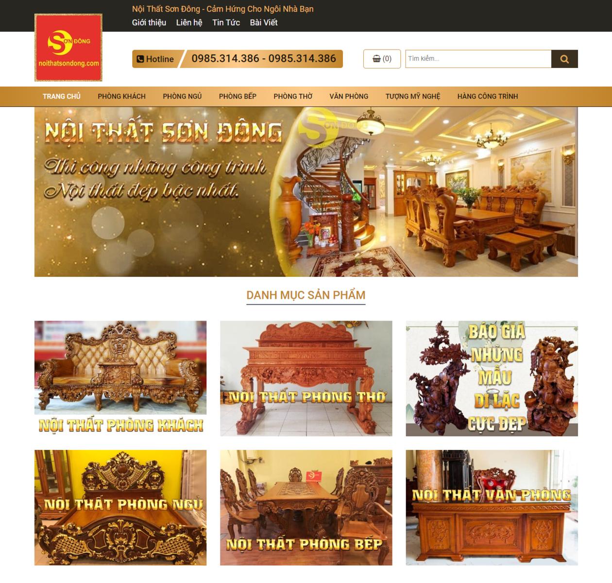 Thiết kế web nội thất sơn đồng thumbnail