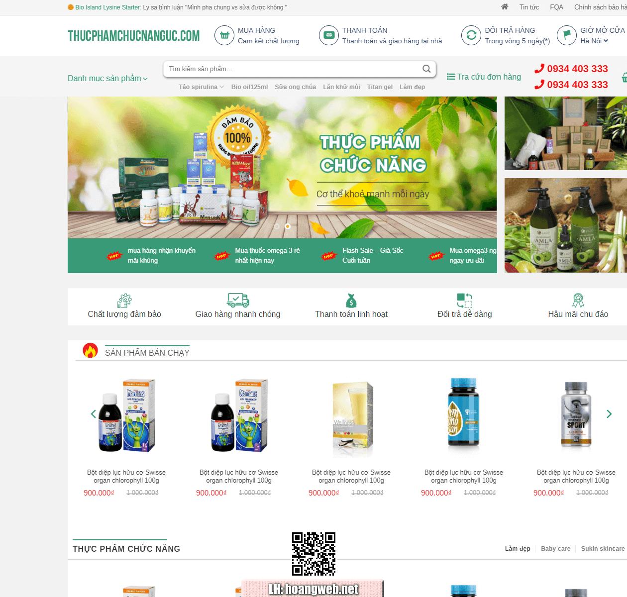 Web thực phẩm chức năng thumbnail