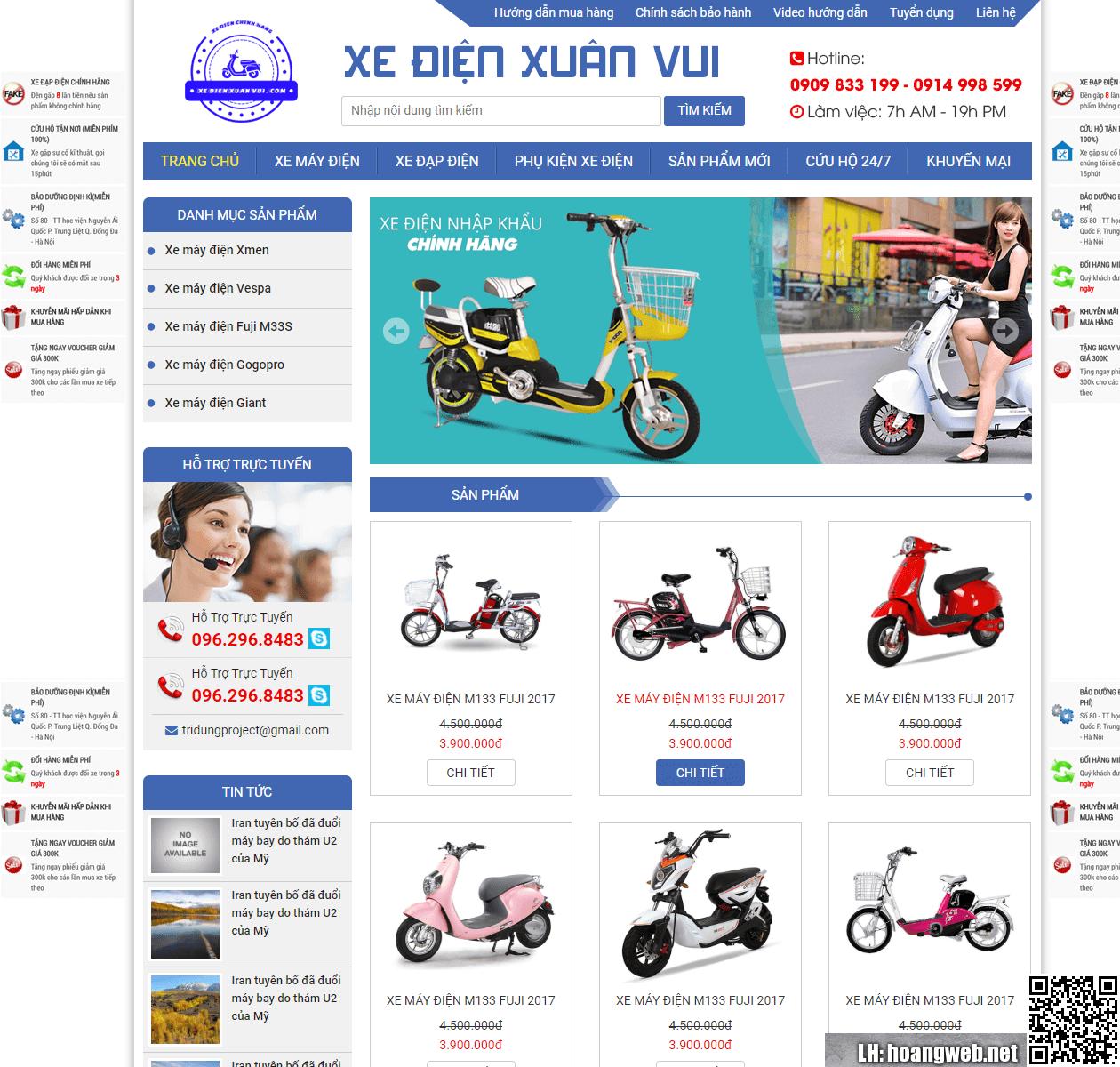 Mẫu web bán xe đạp điện thumbnail