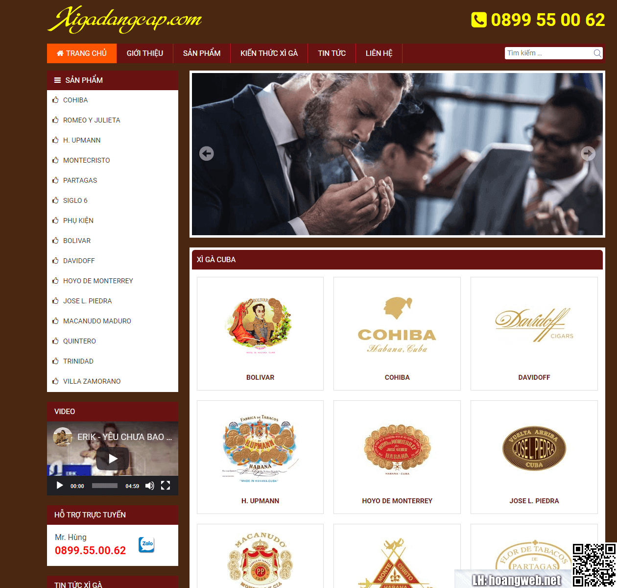 Web bán thuốc xì gà thumbnail