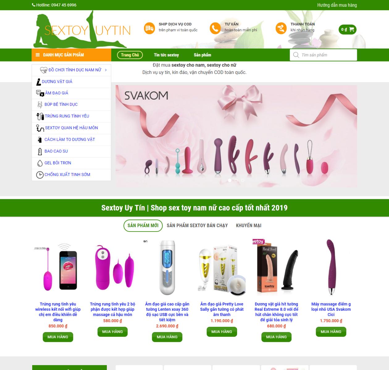 Mẫu web bán Sextoy thumbnail