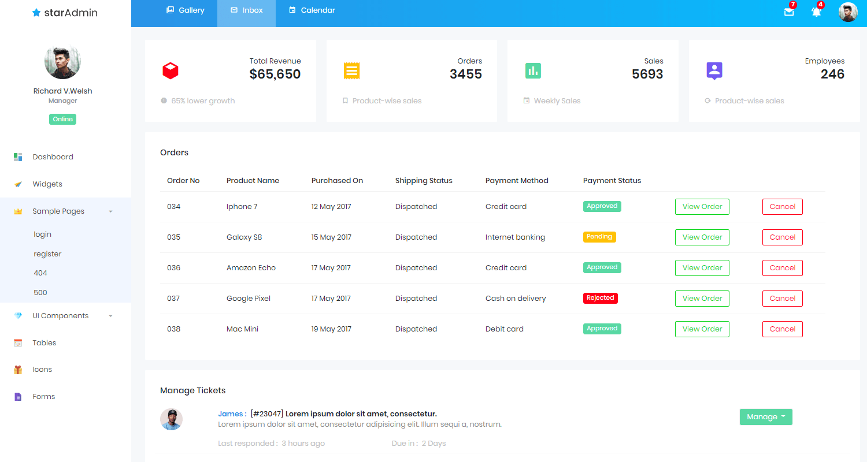 Star Vue Admin - Free Vuejs Admin Dashboard, App screen 2.