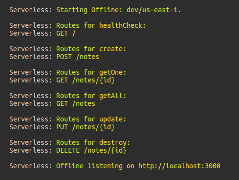 sls-offline-start