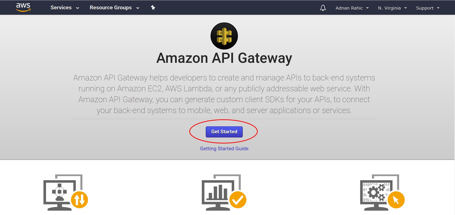 Get Started API Gateway