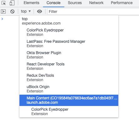 Switch JavaScriptContext