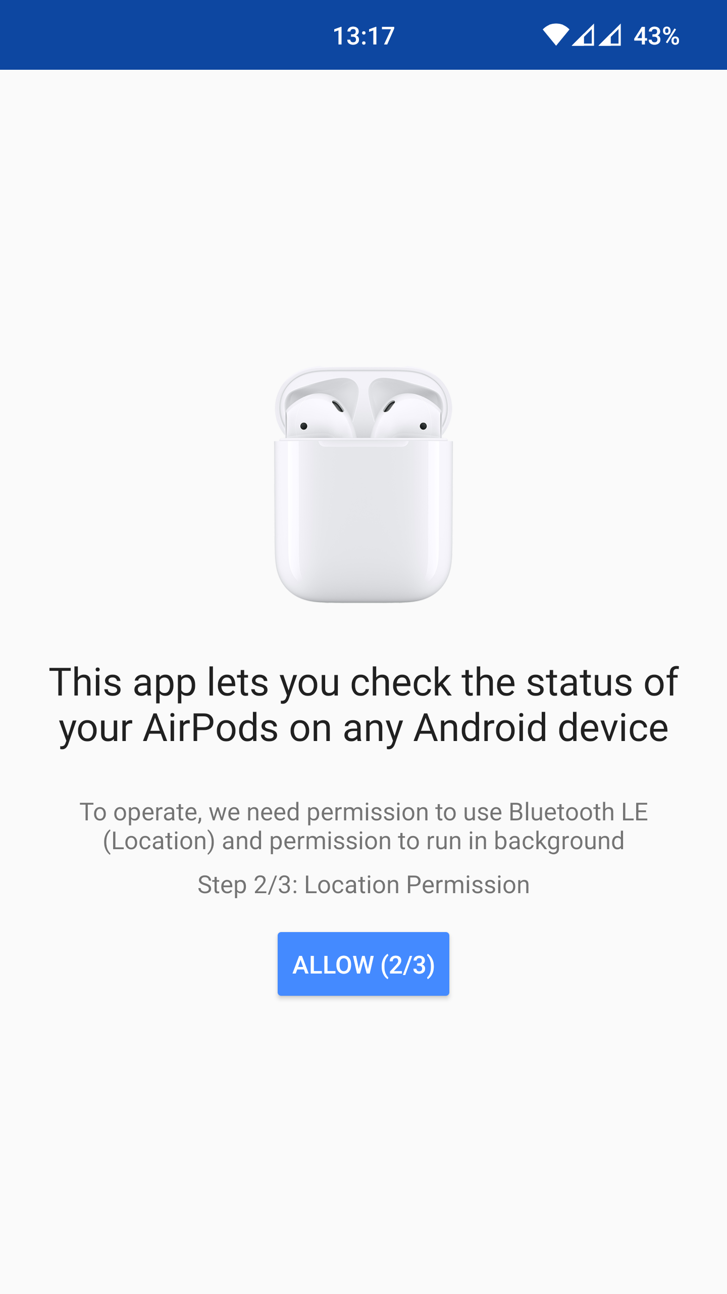Screenshot: permissions