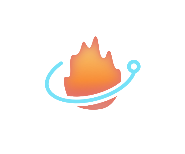 Ember-Electron logo showing an electron orbiting a flame