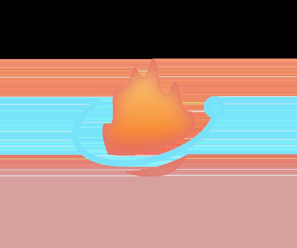 Ember-Electron logo showing an electron orbiting a flame