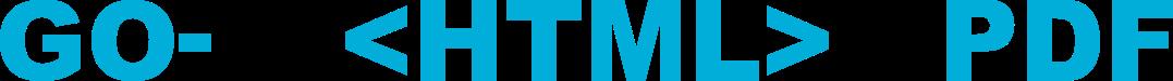 go-wkhtmltopdf logo