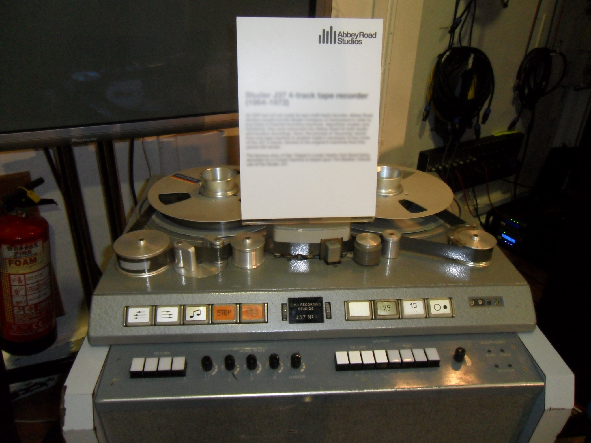 4 track recorder from Abbey Road