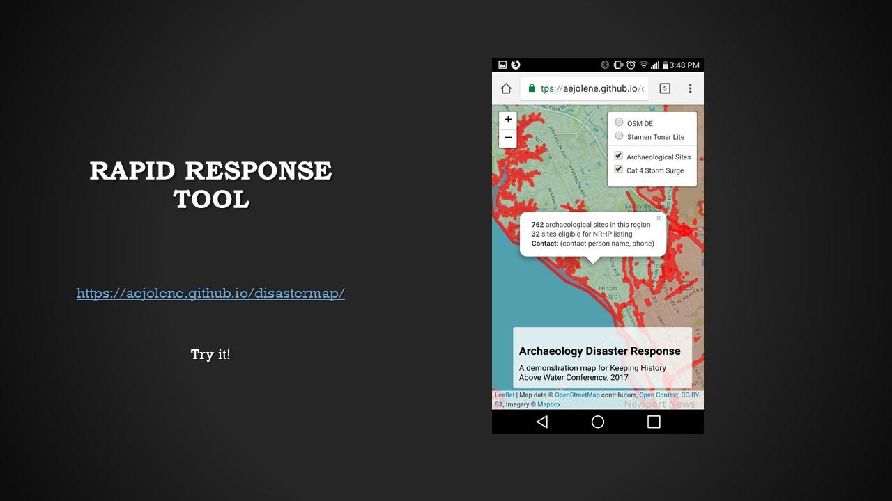Virginia disaster response map screenshot