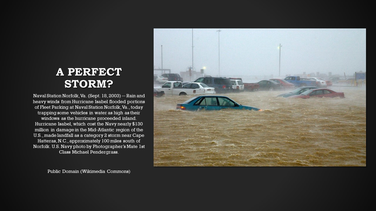 Flooding at the Norfolk Naval Base, 2003