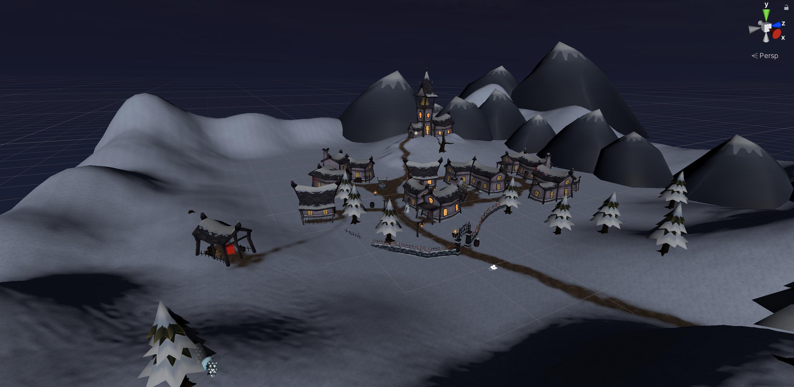 SnowfallVR Viewport Screenshot