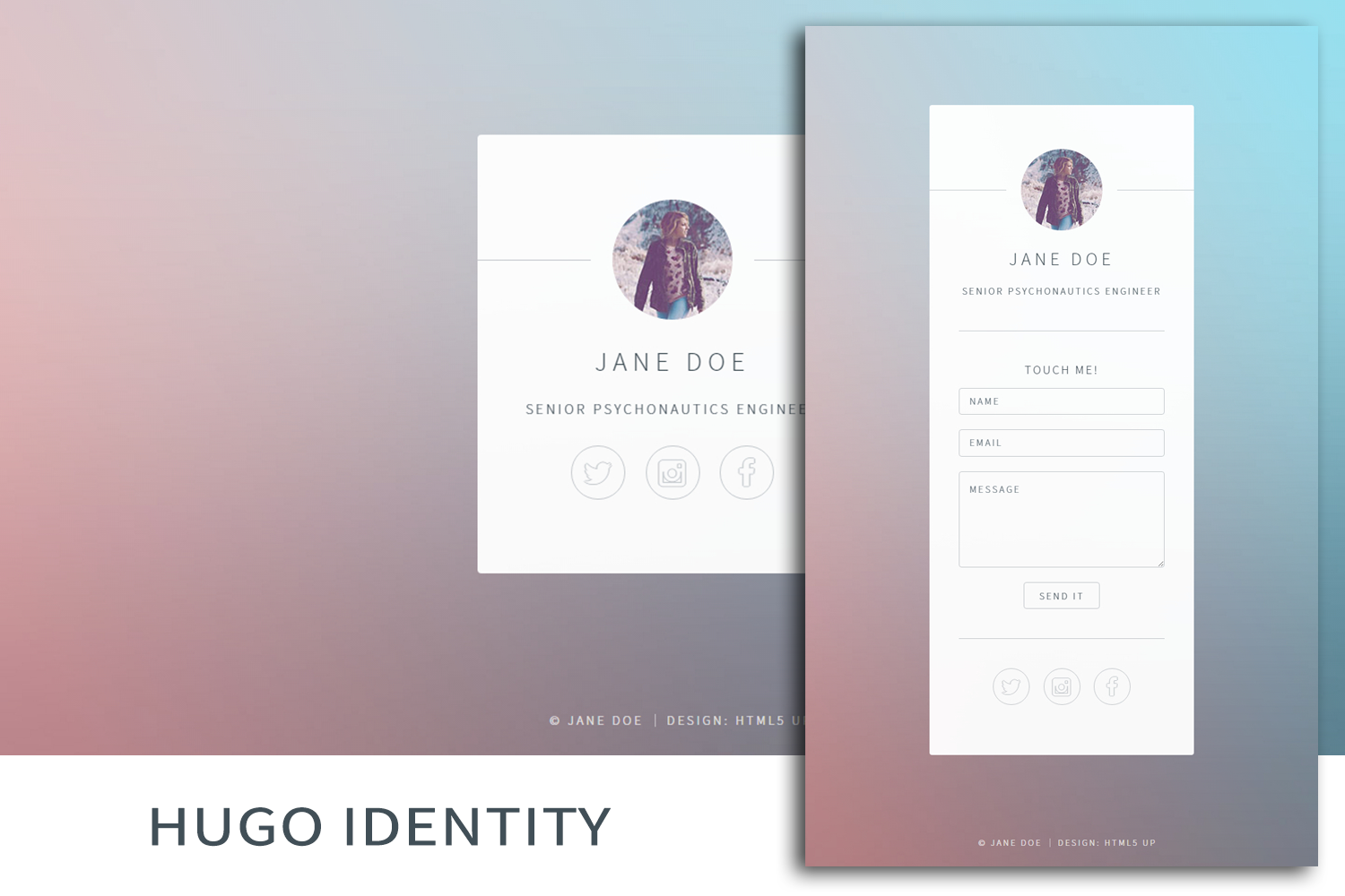 Hugo Identity Theme screenshot
