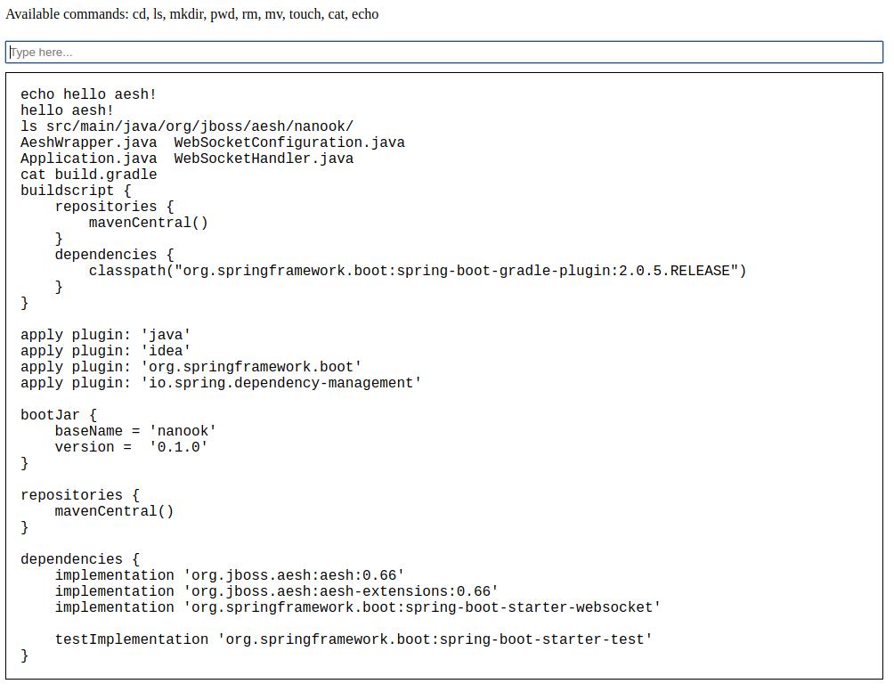 GitHub - aeshell/nanook: A web terminal
