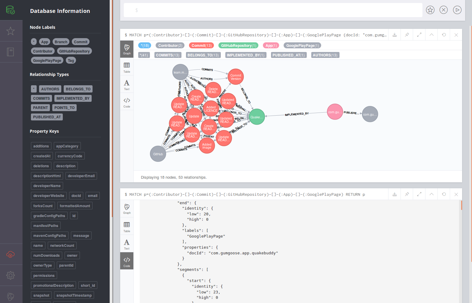 Neo4j Web Interface